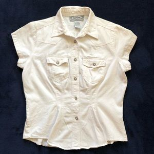 Vintage 90's white button down